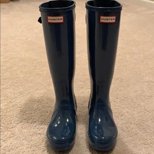 Knee Height Hunter Rain Boots Size 6/EU37